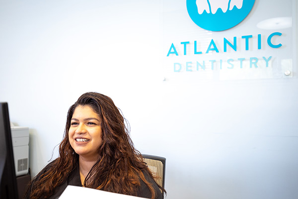 Front Desk at Atlantic Dentistry